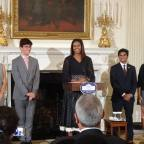 First Lady Michelle Obama Honors Two Indian-American Teen Poets