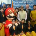 Inaugural Launch of Air India's Nonstop Washington-Delhi Flight is Celebrated in Style