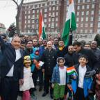 Overflow crowd for India's 70th Republic Day celebration at Indian Embassy in Washington