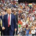 """President Trump joins Prime Minister Modi at """"profoundly historic event"""" in Texas"""