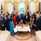 President Donald Trump lights Diwali diya in White House for third consecutive year